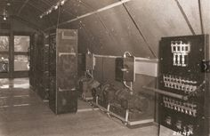 Radio room. This was his escape during the time he was stuck inside the tunnel.