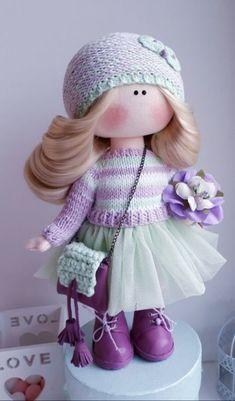 Pretty Dolls, Cute Dolls, Baby Girl Toys, Baby Dolls, Doll Crafts, Cute Crafts, Red Dolls, Homemade Dolls, Waldorf Dolls