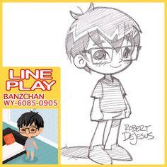 "Robert DeJesus - Google+ :""Sketched my Line Play avatar. WY-6085-0905"""