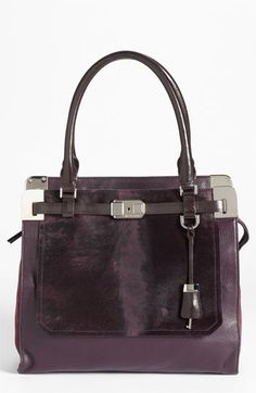 Michael Kors 'Blake' Leather & Genuine Calf Hair Satchel available at #Nordstrom