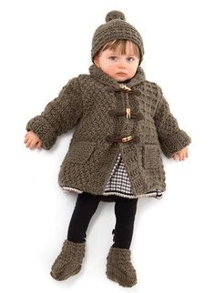 670 - Coat, hat and bootees - Créations 12/13