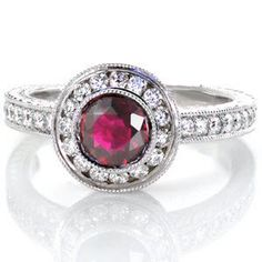 The Ruby Monarch is an enthralling design with a luscious 1.00 carat round ruby center. http://www.knoxjewelers.biz/products/ruby-monarch