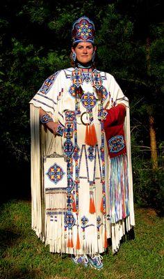 Native Beaded Dress Native American Dancer Wearing A