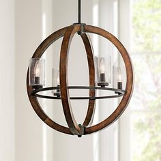 "Kichler Grand Bank 20"" Wide 4-Light Auburn Stained Pendant"