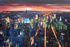 new york night painting - Google Search