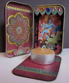 Mini Shiva Shrine | you can create your own mini shrine for meditation on the go