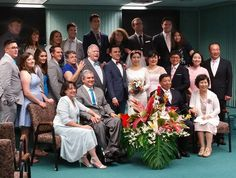 Jason and Aesu's wedding.  This is the group shot of out of town and out of country friends and family..  Guests were from Pennsylvania, New Jersey, New York, Kentucky, Hawaii, China and Korea.