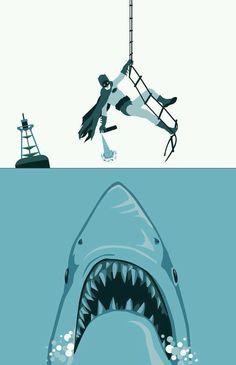 "Love this movie! ""Quick Robin! My shark repellent spray""!"