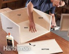 Vertical rollout drawers are a great way to convert a half-empty base cabinet into a high-capacity food storage cabinet that can be custom-sized to fit your Food Storage Cabinet, Low Cabinet, Kitchen Storage, Cabinet Ideas, Storage Cabinets, Woodworking Glue, Woodworking Projects, Kitchen Organization, Storage Organization