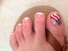4th of July pedicure - nails art