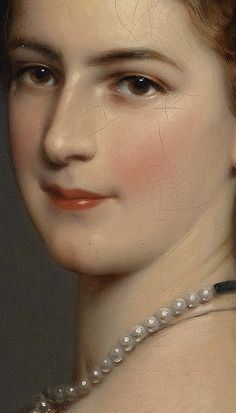 "theladyintweed: ""Details of Portraits by Franz Xaver Winterhalter """