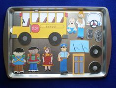 For sale is A NEW The Wheels on the Bus magnetic activity. There are 14 pieces included which are laminated and have a magnet attached to the back Rhyming Activities, Educational Activities, Preschool Activities, Activities For Kids, Kindergarten Library, September Crafts, Daycare Themes, Community Helpers Preschool, Crafts For 3 Year Olds