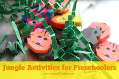 Jungle Activities for Preschoolers from CrayonFreckles.com