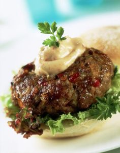 """This is my favorite """"go to"""" recipe for lamb burgers. I recommend these patties for first timers, so if you're a novice lamb burger cook, then give this a try."""