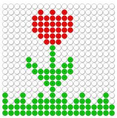 kralenplank natuur, een bloem, tulp Diy Perler Beads, Mosaic Projects, Marianne Design, Create And Craft, Fuse Beads, Plastic Canvas Patterns, Clay Art, Diy Cards, Beading Patterns