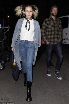 Date night: Miley Cyrus took Liam Hemsworth to see The Flaming Lips in Los Angeles, California, on Tuesday
