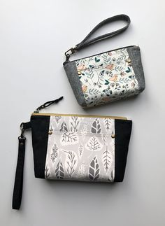 k handmade: Norfolk Pouch (new pdf pattern) Zipper Bags, Zipper Pouch, Pochette Portable Couture, Pouch Bag, Tote Bag, Pencil Pouch, Pouches, Handmade Fabric Bags, Pouch Pattern