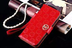 coque Étui Michael le portefeuille mobile iPhone 7 cas rouge