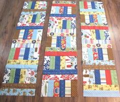 Bee In My Bonnet: Jelly Roll Jam 2 - A Free Tutorial!You can find Jelly rolls and more on our website.Bee In My Bonnet: Jelly Roll Jam 2 - A Free Tutorial! Jellyroll Quilts, Rag Quilt, Scrappy Quilts, Easy Quilts, Children's Quilts, Quilt Top, Quilting Tutorials, Quilting Projects, Quilting Designs