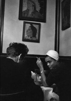 NYC. James Dean in a bar with singer Eartha Kitt, 1955 //  © Dennis Stock #photography