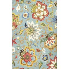 NOVICA Transitional Floral Light Blue/Multi Wool Area Rug (790 AUD) ❤ liked on Polyvore featuring home, rugs, area rugs, blue, clothing & accessories, wool rugs, blue flower rug, blue wool rug, light blue rug and blue floral area rug