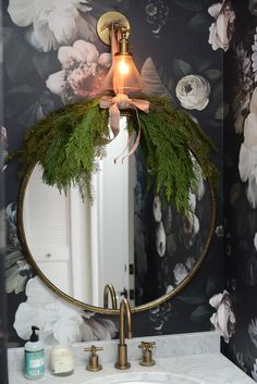 decorating the powder room for christmas
