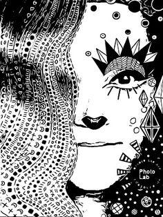 Satu Ylävaara Retrospective Art: Sitten oli testissä Comican sovellus, puhelimella: omakuvia eli sarjakuvia Satu, Rocky Horror, Snow Queen, Graphic Art, Artwork, Graffiti, Playing Cards, Work Of Art, Auguste Rodin Artwork