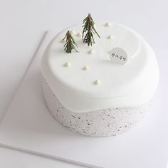 The best looking Korean private cake - zzzzllee Pretty Cakes, Cute Cakes, Cute Desserts, Cafe Food, Piece Of Cakes, Sweet Cakes, Christmas Desserts, Let Them Eat Cake, Cake Designs