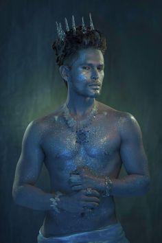 Poseidon: eternal god of the oceans - Styling on Behance Male Makeup, Makeup Art, Merman Costume, Male Fairy, Male Mermaid, Homo, Fantasy Photography, Midsummer Nights Dream, Merfolk