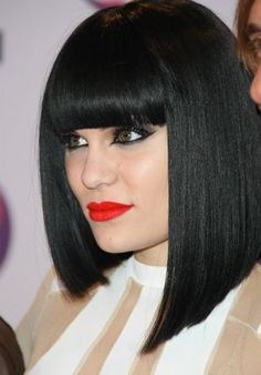 dark straight bob with bangs - Google Search