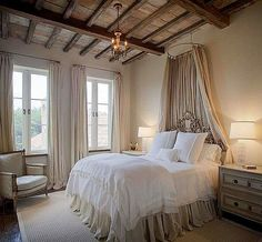 French Country Cottage, French Country Style, Disney Themed Rooms, Pebble Floor, Restoration Hardware Baby, Savvy Southern Style, Brick Flooring, Clear Glass Vases, Window Shutters