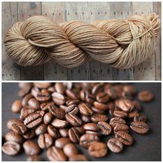Hand Dyed Superwash Worsted Yarn - Coffee Bean