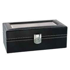 MULTI-FUNCTIONAL SHOWCASE: 4 watch slots with removable velvet pillows which can make room for other accessories, such as necklaces, bracelets, cufflinks, earrings, brooches and other jewelry. LARGE REAL GLASS LID: Real glass lid keeps your watches from dust, and offers you an open view of the displayed watches #watch_box #Watch_Box_Organizer #Best_watch_box #Leather_Watch_Box #Watch_Storage_Box #Best_Watch_Box_India #Watch_Box_for_Men Grid Watch, Watch Storage Box, Leather Watch Box, Watch Display, Retail Shop, Velvet Pillows, Display Boxes, Jewellery Display, Other Accessories