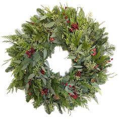 I need this wreath in my life. Cedar Berry Eucalyptus Wreath. Christmas #afflink