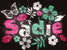 Sadie, Name Poster by Val Costanzo, via Behance Cute Baby Names, Cute Babies, Sadie, Little Girls, Minnie Mouse, Disney Characters, Fictional Characters, Poster, Behance