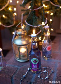 Turn glass bottles into pretty lanterns in this trash-to-treasure DIY project