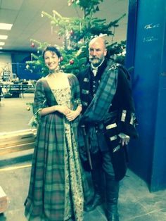 Dougal and claire on set