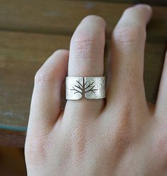 Textured Silver Tree Ring on Behance