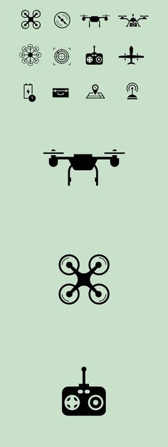12 Drone Icons #dronetechnology #droneprojects