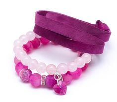 Wristbands & Bracelets – Set bracelets Purple 889 – a unique product by Blackif on DaWanda