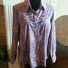 Coldwater Creek Tops - Coldwater Creek Purples Plums long sleeved blouse