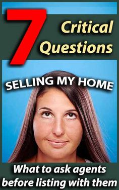 Selling my Home - Questions to ask Real Estate Agents. #sellingahome #sellmyhome #realestate #realestateblog