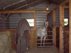 Budget Interior barn idea....not the gate for a stall door though