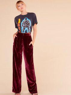 Image result for COSTUME NATIONAL women velvet PANTSUIT
