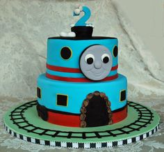 Thomas the Train birthday cake www.1gateau.com