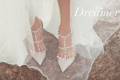 valentino and natacha ahs Valentino Rockstud Shoes, Valentino Heels, Valentino Gowns, Valentino Bridal, Valentino Wedding Shoes, Bridal Heels, Wedding Heels, Bride Shoes, Prom Shoes