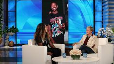 Tennis star Naomi Osaka revealed her celebrity crush is Michael B. Jordan, so Ellen tried to play matchmaker for the two. Open win and the controversy over her opponent Serena Williams. Michael B Jordan, The Ellen Show, Who Runs The World, Tennis Stars, The Hollywood Reporter, Serena Williams, Osaka, Celebrity Crush, Tv Series
