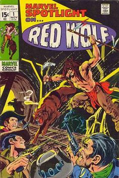 Red Wolf, native peoples characters, comic books, Marvel Spotlight, Lobo, 1970s