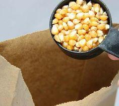 Palomitas de maíz caseras en microondas
