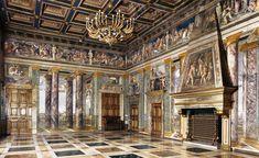 Grand salone by Baldassare Peruzzi of the Villa Farnesina, Rome - 1506-1512